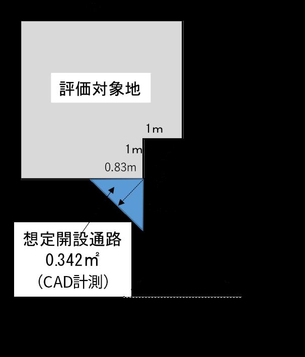 位置指定道路に2m接する土地-3
